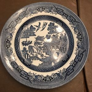 Other - Vintage white and blue medium plate by Churchill